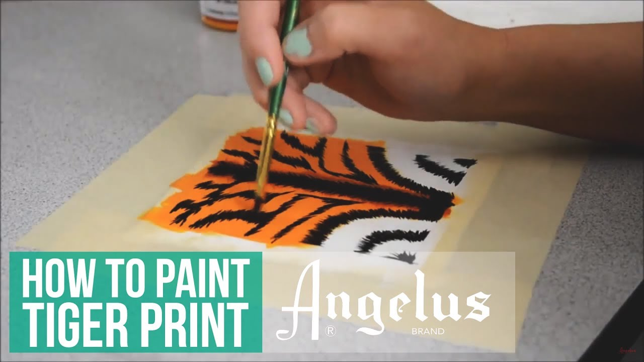 How To Paint Tiger Print on Leather with Angelus Brand Paints by  @KendrasCustoms
