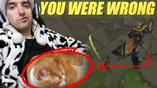 YOU WERE WRONG! MY CAT DID NOT CARRY WITH MASTER YI - COWSEP