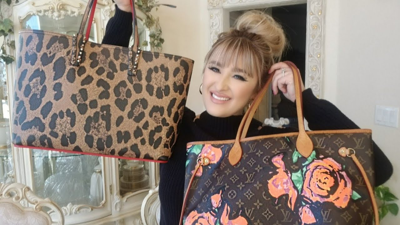 Christian Louboutin Cabata Bag Vs Louis Vuitton Neverfull Mm Youtube