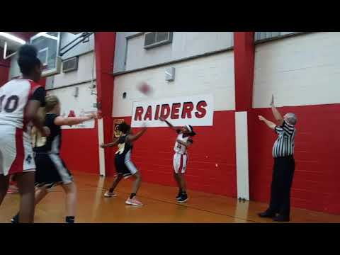 T.H. HARRIS VS HAYNES ACADEMY GIRLS BASKETBALL (Emarie Lewis 2024 #12 (red&white) 12 years old)