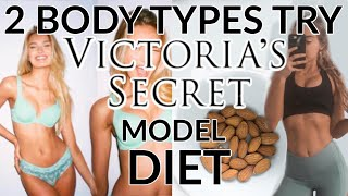 2 Body Types Try The Victoria Secret Model Diet u0026 Workout Routine