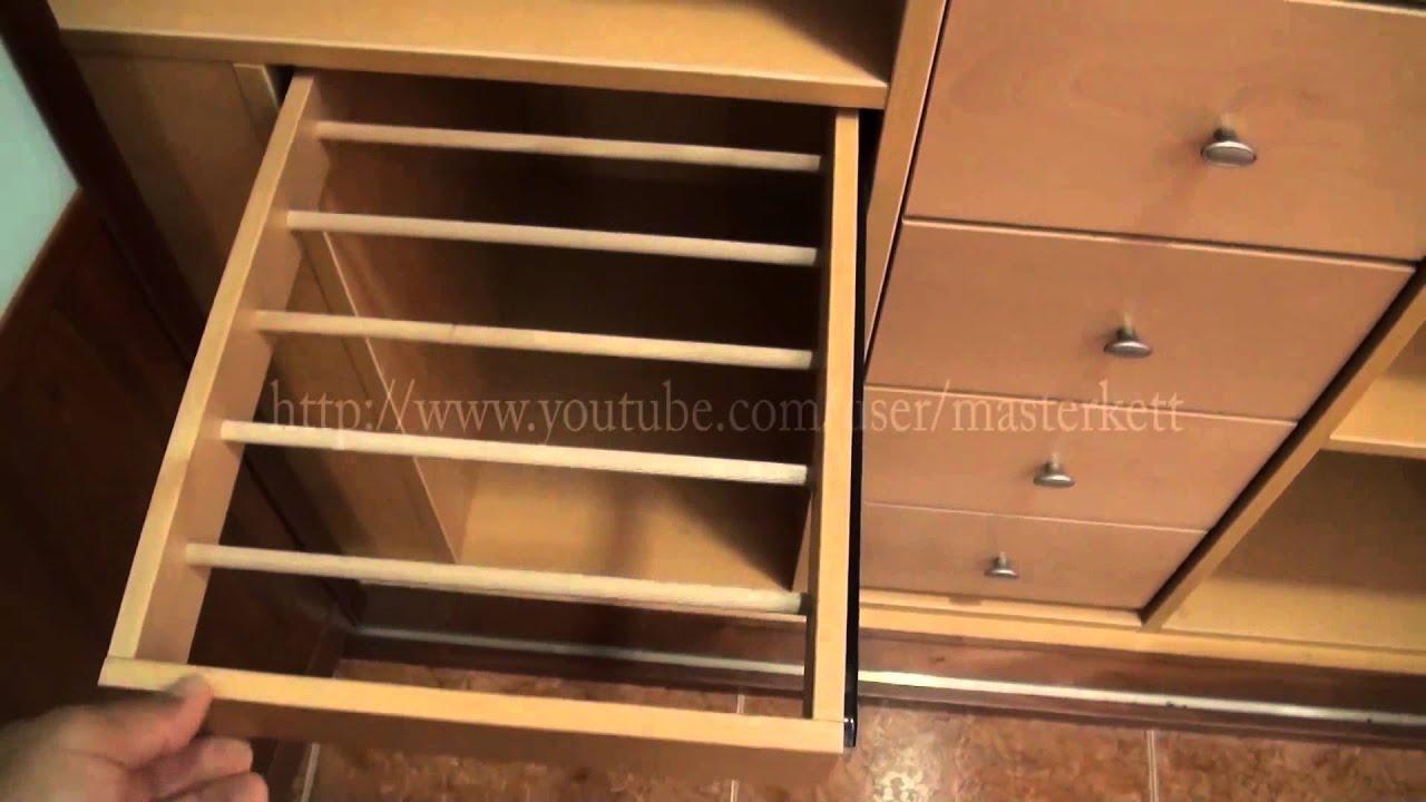 Armarios empotrados perfileria aluminio color madera - YouTube