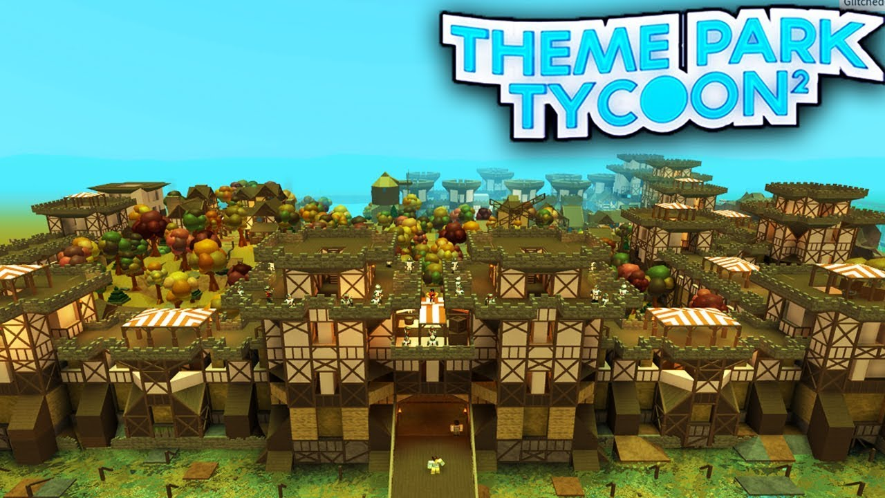 SUPER DETAILED CASTLE PARK in Theme Park Tycoon 2!! - Roblox