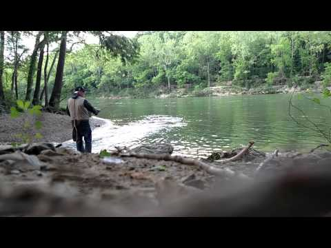 Fly fishing at Table Rock Dam
