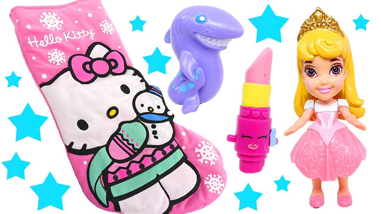 Toy Hello Kitty Watch : Hello kitty toy stocking disney princesses shopkins
