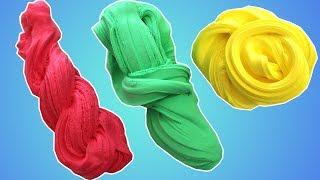 Tutkalsız Boraksız 123 Renk Pofuduk Slime Yaptım! Slime Test - Bidünya Oyuncak