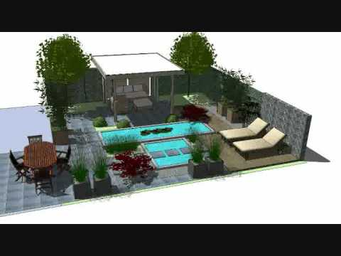 3D Garden Design Sketchup - Faassen Holland - YouTube on Sketchup Backyard id=61796
