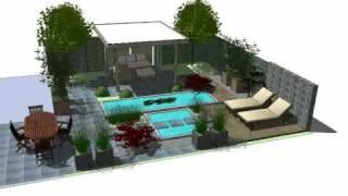 3D Garden Design Sketchup - Faassen Holland
