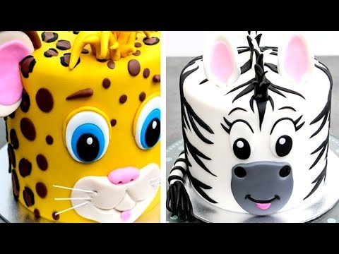ANIMAL CAKE! Easy Birthday Animals Cakes | How To Make