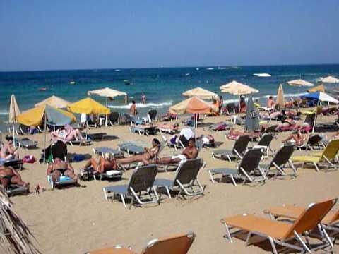 Malia Strand In Kreta Vakantie Zomer 2009 Malia Beach At Crete