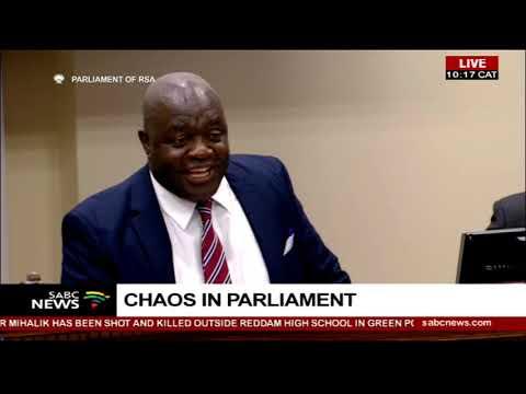 Chaos in parliament -  Home Affairs briefing