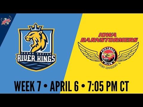 Week 7   Cedar Rapids River Kings at Iowa Barnstormers
