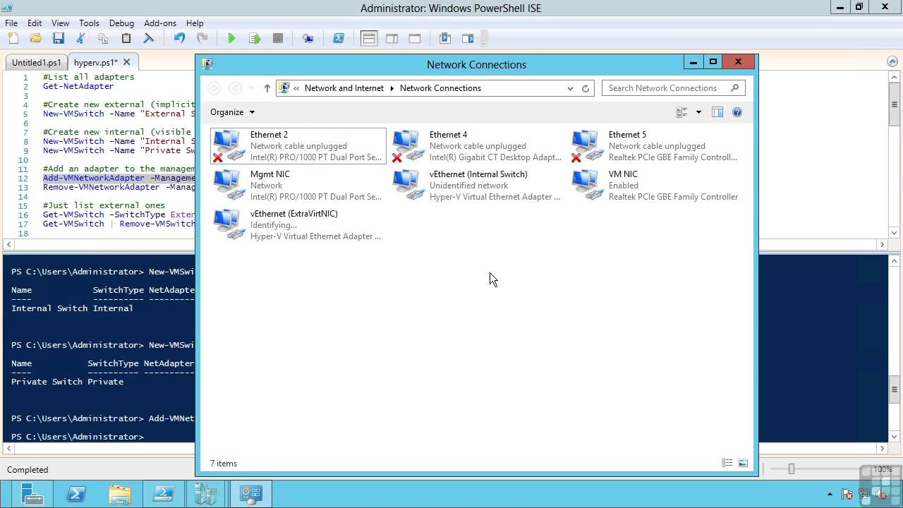 Hyper V 3 Creating Virtual Networks And Virtual Switches Youtube