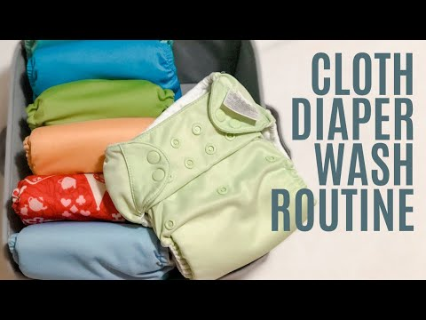 HOW TO WASH CLOTH DIAPERS | Cloth Diaper Wash Routine