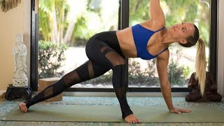 Side Plank Yoga Flow to Strengthen + Tone