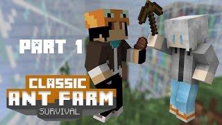Minecraft Ant Farm map - ผจญภัยสภาพจิ๊ว! #1 Ft.Woplastnightv