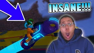 VOLT BIKE *FREAKOUT* (ROB TRAIN TWICE GLITCH) in ROBLOX JAILBREAK!!!