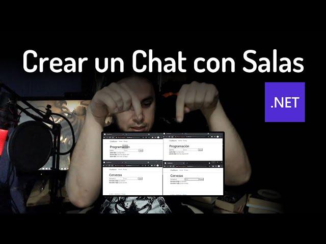 Crear Chat con Salas en C# .Net   Aplicaciones en tiempo real con SignalR