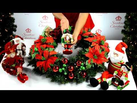 C mo armar tu corona navide a de ensue o youtube - Como hacer coronas de navidad ...