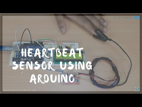 Pictures heart rate sensor circuit using arduino block