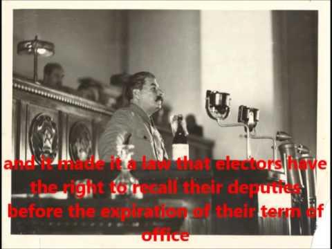 Stalin Soviet Elections Speech 1937 (Full) ENGLISH SUBS