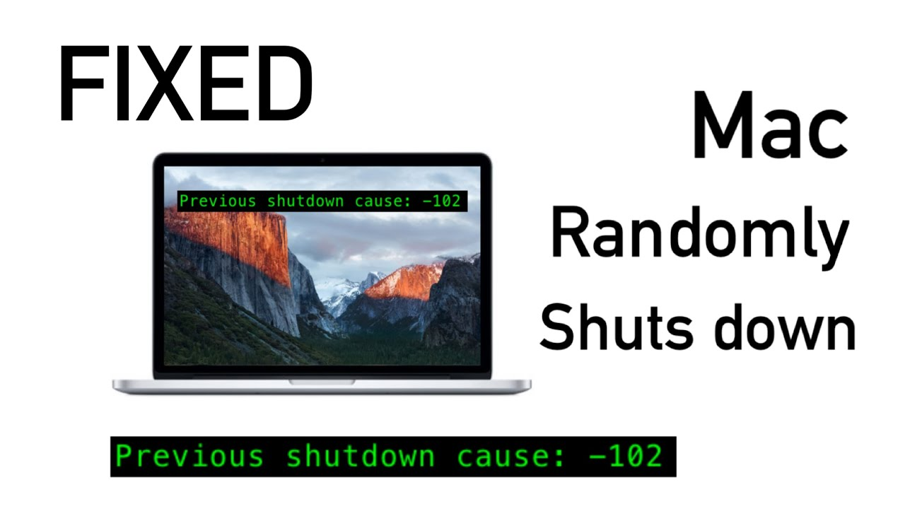 Apple macbook air keeps shutting down on it s own