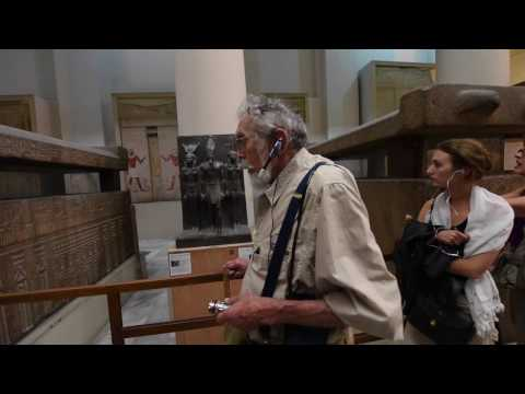 John Anthony West in The Cairo Museum - 2016