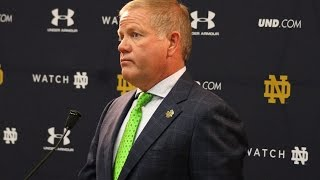 Notre Dame Football Press Conference - Michigan State