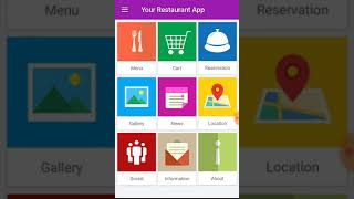Restauarant app demo video