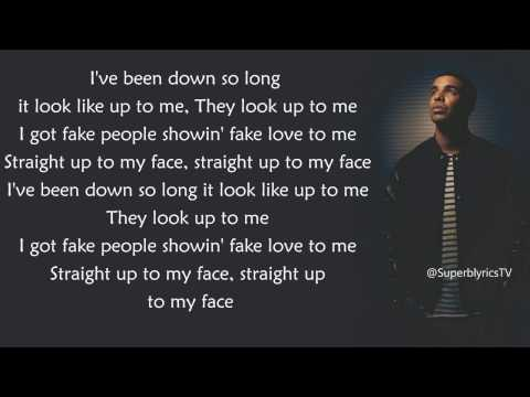 Drake Fake Love Official Song Radio Version With Lyrics Clean Audio New