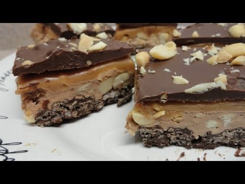 Four Layer Nougat Bars Peanut Butter Caramel Chocolate Recipe - Better homes and gardens brownie recipe