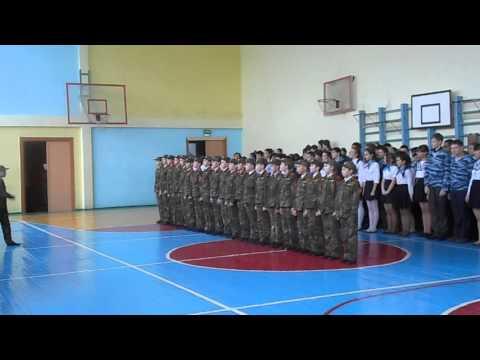 Парад юнармейцев в 42 школе 2016 год