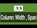 33 - ( CSS3 Tutorial ) Multi-Columns : Column Span , Column Width