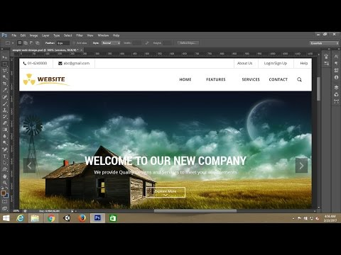 Photoshop tutorial:Simple webpage template design in photoshop - Part 2