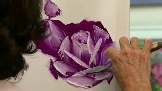 Painting Roses in Oil with a Palette Knife in 3 Easy Steps