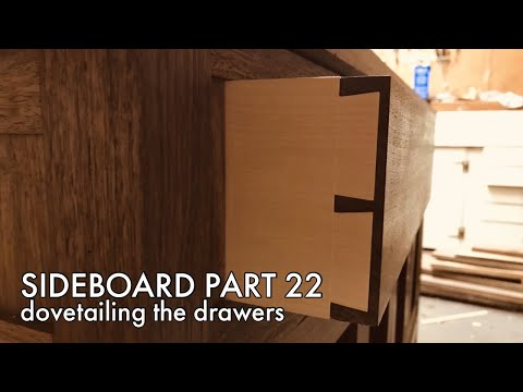 Building a Sideboard part 22: Dovetailing the Drawers   Hand Tool Woodworking
