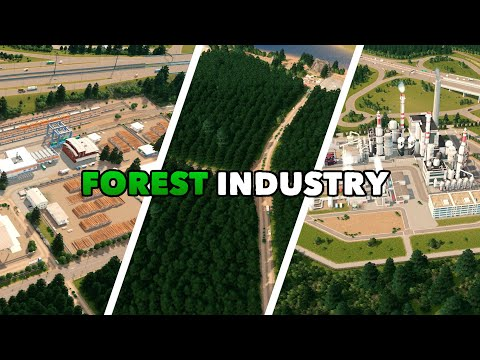 Building a Forest Industry and Paper Factory in Cities: Skylines | Dream Bay Ep.23 |