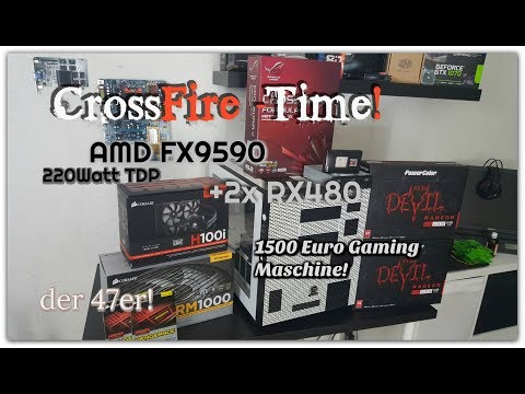 1500 Euro Gaming Maschine - Crossfire Action 2x RX480!