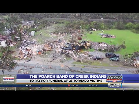 Hilary - Poarch Band of Creek Indians covers funeral costs for tornado victims