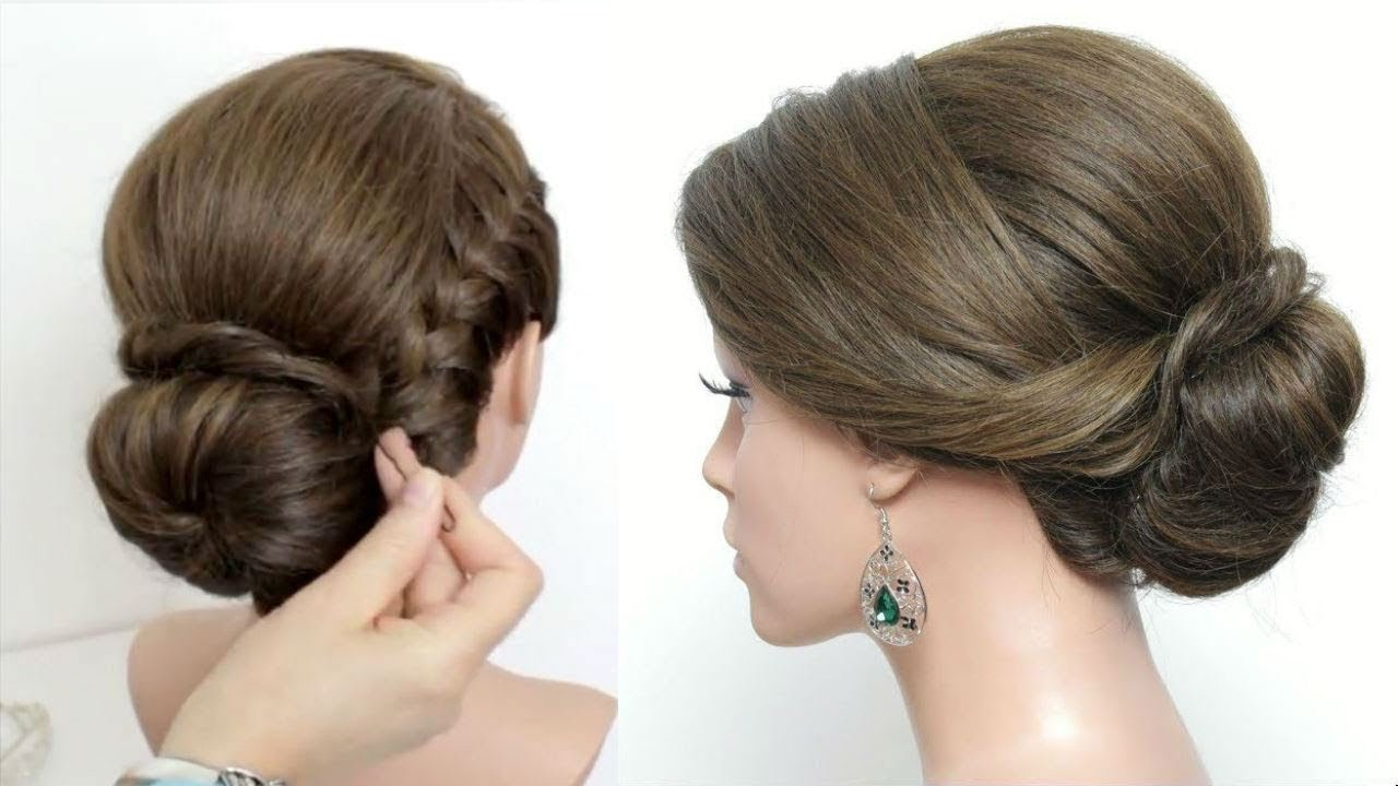 Wedding Prom Updo Tutorial Low Bun French Braid Formal Hairstyles