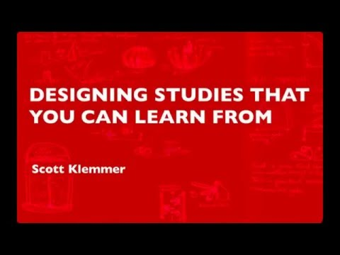 Lecture 25 — Designing Studies You Can Learn From | HCI | Stanford University