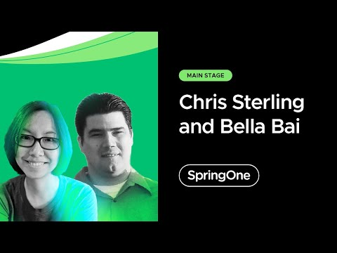 Chris Sterling and Bella Bai at SpringOne 2021