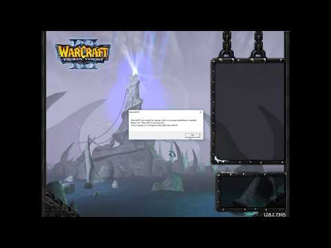 "How to fix error ""Warcraft 3 was unable to startup due to installation or update"""