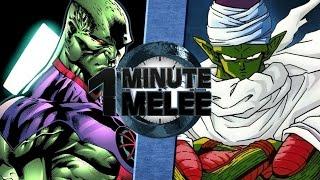 one minute melee s4 ep9 piccolo vs martian man hunter dbz vs dc