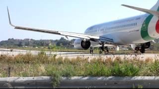 Skiathos Airport, Air Italy departure.