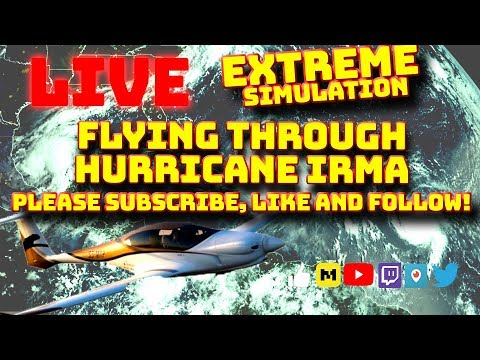 PART 4 EXTREME WEATHER! END OF TIMES! FLYING THROUGH HURRICANE IRMA, JOSE AND KATIA