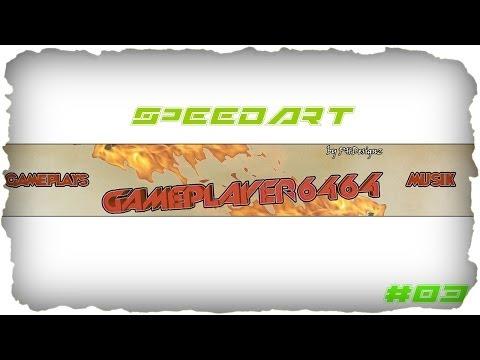 Speedart #03 Kanalbanner GamePlayer6464 || By PHDesignz