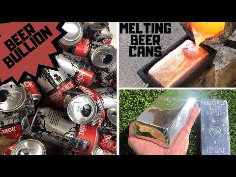 Смотреть MELTING ALUMINIUM CANS - TRASH TO TREASURE - ASMR BEER BULLION - DIY Mirror Finished Bars at home онлайн