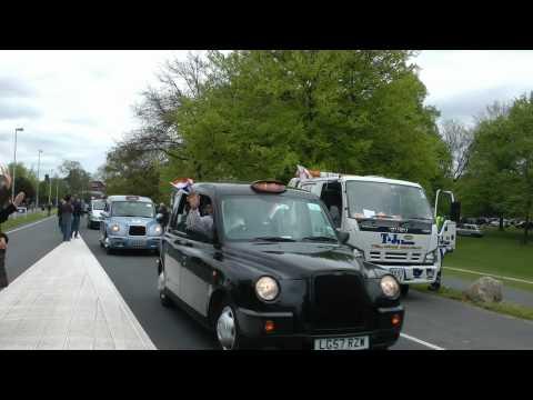 London cabs Oosterbeek LTBA Memorial Tour. 5 mei 2012 Oosterbeek. Bevrijdingsdag.