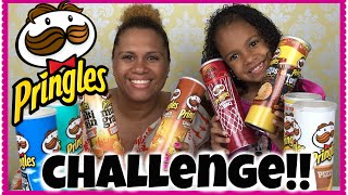 Pringles Challenge  8 Flavors! ~ Gabriella Damaris Show ~ Tagged by Me and My Kids